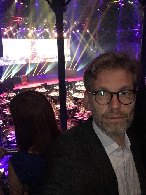 """Exitement before the ceremony started leading up to a nomination for the International Sabre Awards Category """"Corporate Media Relations""""2017"""